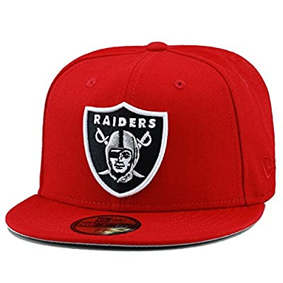 New Era Oakland Raiders Fitted Hat Cap Red
