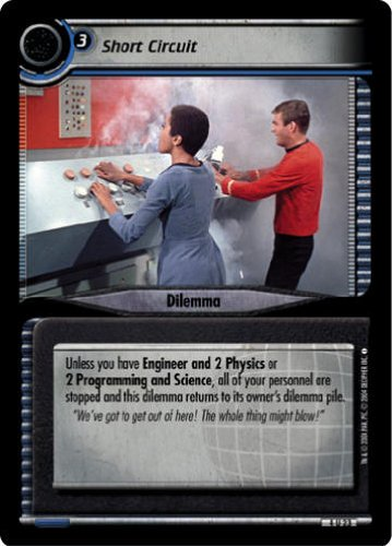 STAR TREK CCG 2E NE NECESSARY EVIL SHORT CIRCUIT 4U23 ()