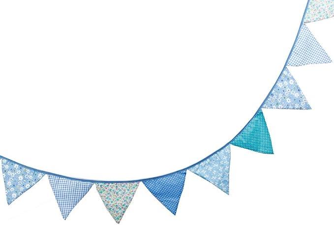 Da.Wa Belle Bunting Drapeau Banni/ère Pennant Drapeau Drapeaux Guirlandes Tissu Triangle double face Tissu Vintage Shabby Chic d/écoration pour les f/êtes danniversaire C/ér/émonies Chambres Cuisine