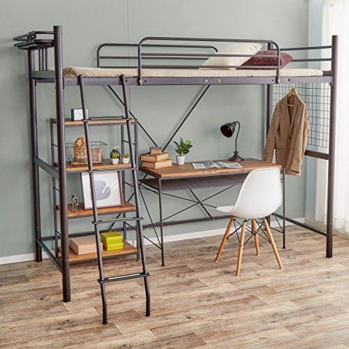 スチール製のロフトベッド
