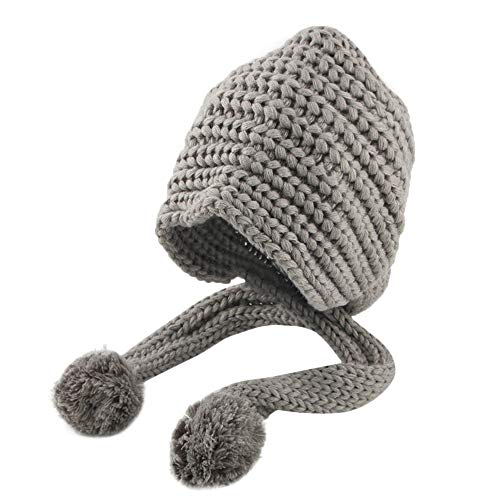 Gbell Toddler Girl Boy Beanies - Baby Infant Kids Winter Crochet Knit Hat Hairball Cap Cute Warm with Pom Pom Ball