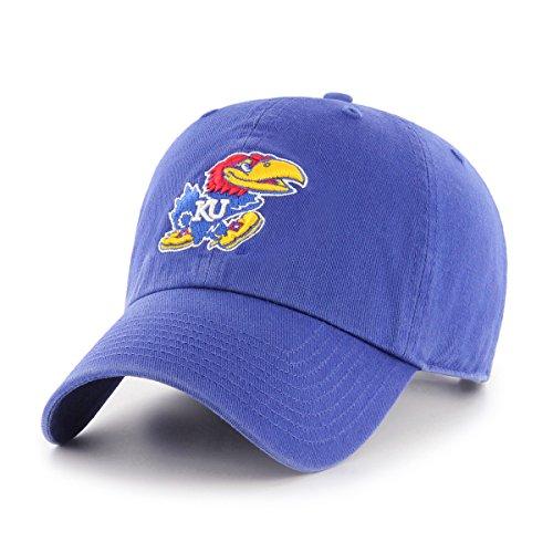 OTS NCAA Kansas Jayhawks Women's Challenger Clean Up Adjustable Hat, - Athletics Jayhawks Kansas