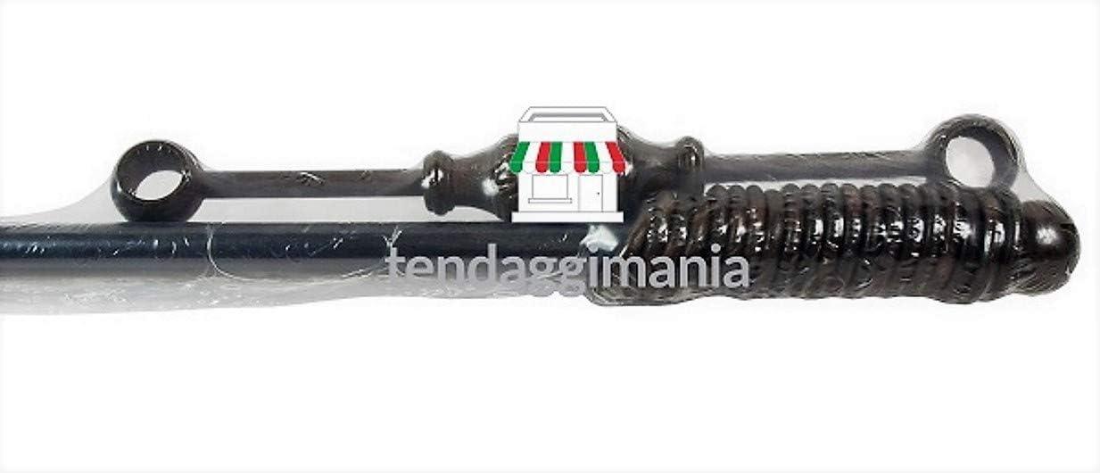 Bianco, 100 CM Vari Colori e Misure con Anelli-TERMINALI- STAFFE Montaggio Bastone in Legno Diametro 23 mm per Tende A Strappo Senza Corda