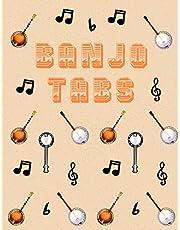 Banjo Tabs: Carta da partiture vuote per Banjo | Usa la tua creatività per giocare e scrivere le tue canzoni Banjo! | Banjo Taccuino | Tablature Banjo per gli accordi