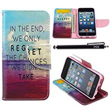 iPod Touch 5 Case, i Touch 6 Case Wallet, iYCK Premium PU Leather Flip Folio Carrying Magnetic Closure Protective Shell Wallet Case Cover for iPod Touch 5/6 with Kickstand Stand - In The End