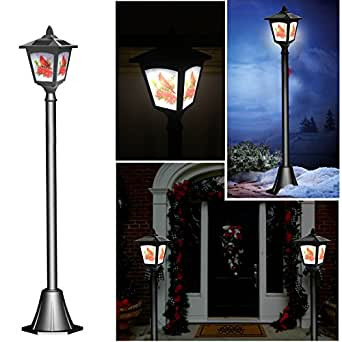 42 Inches Mini Street Post Outdoor Garden Solar Lamp Post Light Lawn - Adjustable (Cardinal)