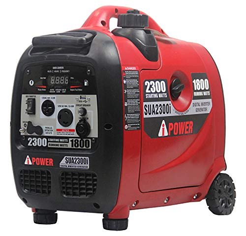 A-iPower SUA2300i A- 2300-Watt Inverter Generator with Mobility Kit Parallel Ready for Double Power Ultra Quite