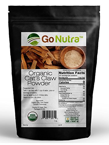 Cats Claw Powder 1 lb. Organic from Peru USDA Certified Uncaria Tomentosa