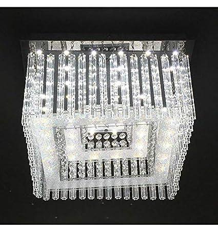 Lustre Plafonnier carré cristal LED - Vinci - EN SOLDES ...