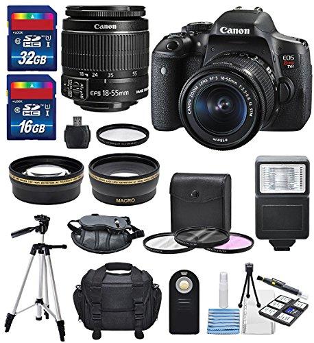 (Canon EOS Rebel T6i + EF-S 18-55mm IS STM Lens Kit + Deluxe Bundle (14 Items))