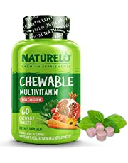 NATURELO Chewable Multivitamin for Children - with Natural Vitamins, Whole Food Minerals, Organic Fruit & Vegetable Extracts - Best Vegan/Vegetarian Supplement for Kids - 60 Tablets