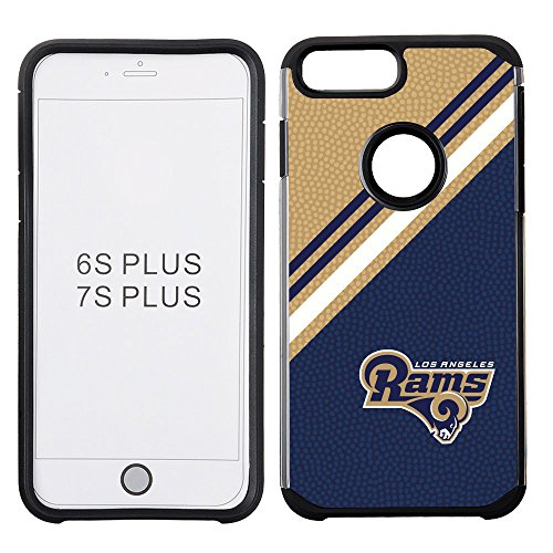 nfl-los-angeles-rams-diagonal-stripes-football-pebble-grain-feel-iphone-7-plus-case