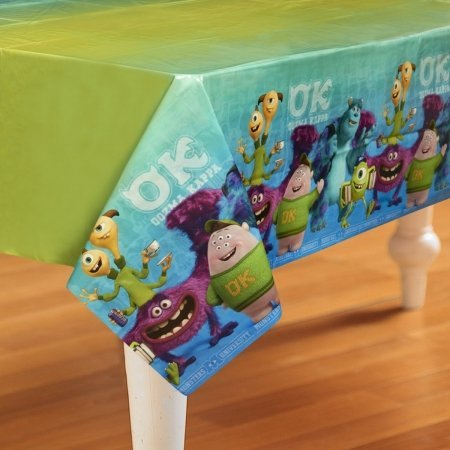 Monsters University Inc. Plastic Tablecover (1ct) (Monster Inc Party Tablecover compare prices)