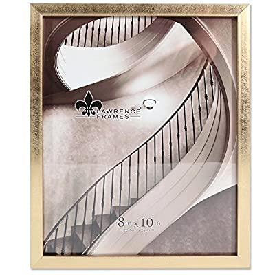 Lawrence Frames Galvanized Expressions 8x10 Chloe Contemporary Gold Picture Frame - Contemporary gold frame Stands vertically or horizontally on a flat surface Beautifully finished composite polystyrene frame - picture-frames, bedroom-decor, bedroom - 51RYTWTHwQL. SS400  -