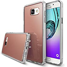 Galaxy A3 2016 Case, Ringke [FUSION MIRROR] Bright Reflection Radiant Luxury Mirror Bumper [Drop Protection/Shock Absorption Technology][Attached Dust Cap] For Samsung Galaxy A3 2016 - Rose Gold