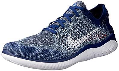 Nike Australia Men's Free RN Flyknit 2018 Running Shoes, Blue Void/White-Red Orbit, 7 US