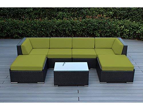 amazon com ohana 7 piece outdoor patio furniture sectional rh amazon com ohana patio furniture reviews ohana patio furniture covers