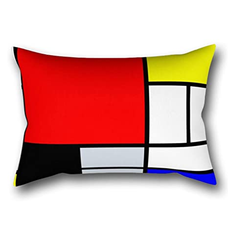 GYTOP Funda Cojín Mondrian Funda De Almohada 50X75Cm: Amazon ...