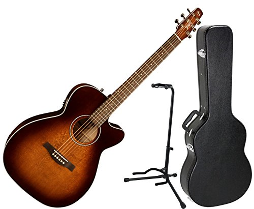 Seagull 041824 Performer Cutaway Concert Hall QIT Burnt Umber Acoustic Electric Guitar w/ Hard Case and - Cutaway Guitar Gull Sea