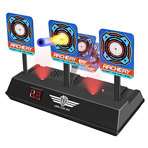 Nerf Guns Targets for Kids, Tesoky Electronic Shooting Digital Targets Toy Nerf Targets for Shooting Outdoor Electric Target - Blaster Electronic