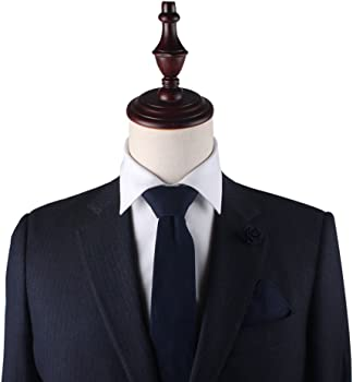 AUSCUFFLINKS Corbatas de algodón azul marino corbatas de lino ...