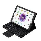 Genjia iPad 9.7'' Keyboard Case - PU Leather Smart Case with Removable Wireless Bluetooth Keyboard for iPad 6th(9.7'', 2018), iPad 5th(9.7, 2017), iPad Pro 9.7, iPad Air1/Air2 (Black)