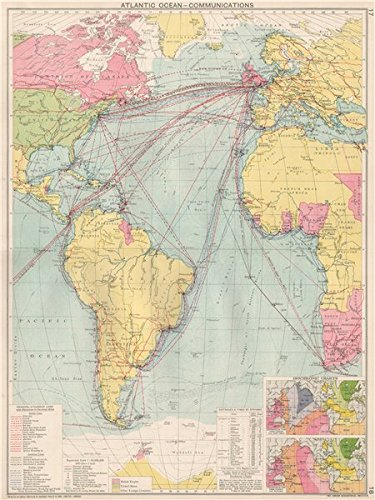 Amazoncom Atlantic Ocean Communications Steamship Linescompanies - The old map company