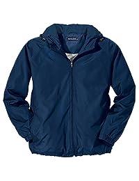Sport-Tek Men's Big And Tall Hooded Raglan Jacket