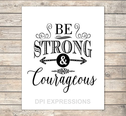 image about Printable Scripture named : Be Sturdy and Brave, Christian Wall Artwork