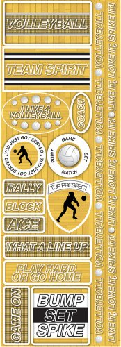 Reminisce Signature Series Combo Sticker, Volleyball