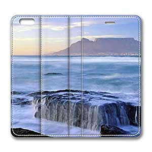 iPhone 6 Case, iPhone 6 Leather Case, Fashion Protective PU Leather Slim Flip Case [Stand Feature] Cover for New Apple iPhone 6(4.7 inch) - Table Mountain National Park South Africa