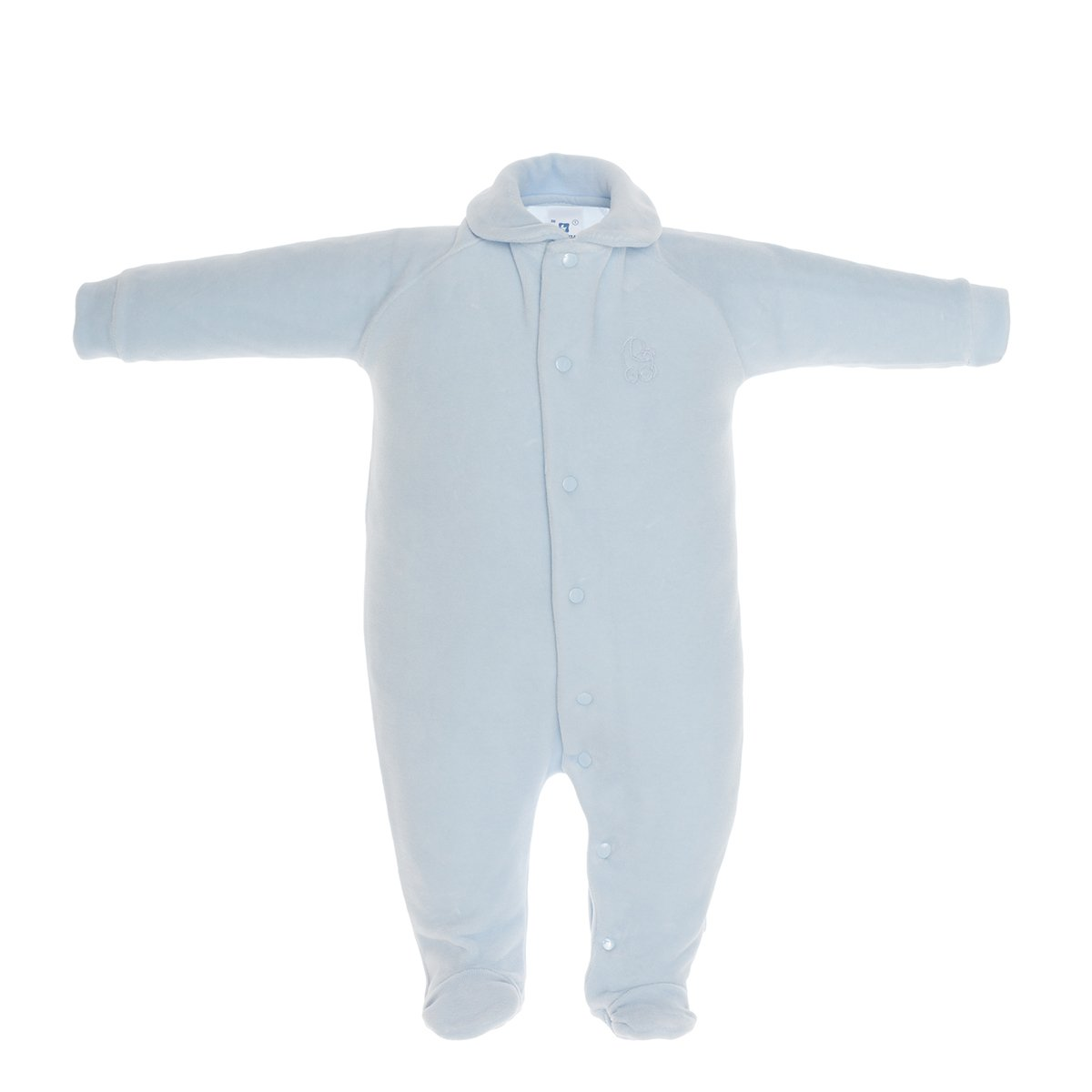 Cambrass Unisex Baby All in One Velvet Playsuit with Collar
