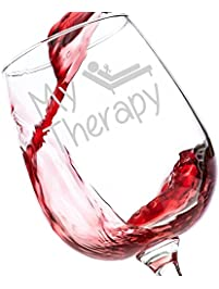 my therapy funny wine glass 13 oz best birthday gifts for women unique gift
