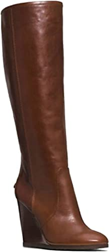 Womens Leather Wedge Boots