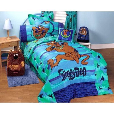 wb scooby doo whats up full size comforter sheet set - Scoobydoo Bedding