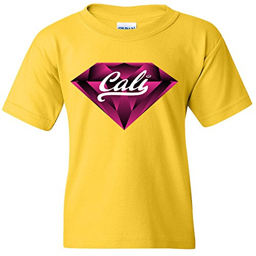 Price comparison product image Amazing Items California Republic Cali Pink Diamond Unisex Youth's T-Shirt,  Small,  Daisy