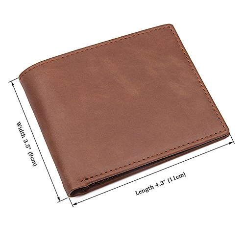 Card Wallets Case Silm Mens Bifold Card Genuine Wallet RFID Leather Holder pq4TYafw