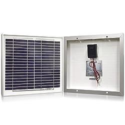 Solar Panel 10 Watt, Powereco 10W Polycrystalline Solar Charger for 12V Battery Charging