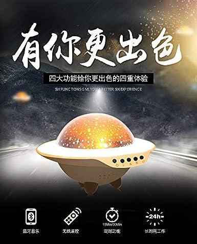 Proyector de estrellas UFO lámpara de proyección giratoria lámpara ...