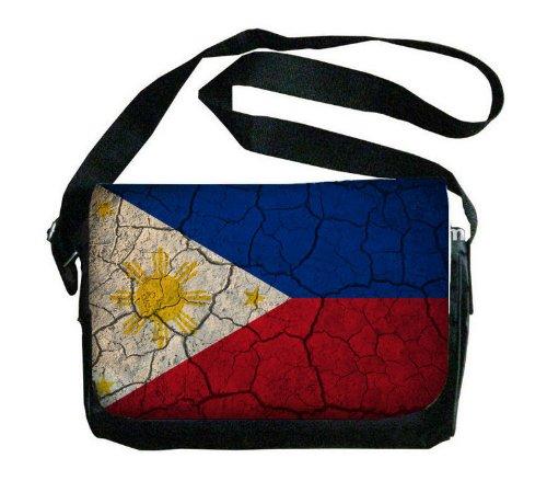フィリピン国旗Crackledデザインメッセンジャーバッグ   B00FMFMYT8