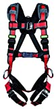 MSA 10155579 Evotech Lite Line Harness with Quick-Connect Leg Strap, Back and Hip D-Ring, X-Large