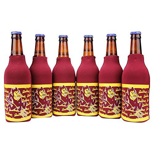 Kolder NCAA Collegiate 6 Pack Bundle Neoprene Bottle Coozies (Arizona State Sun Devils (Repeat))