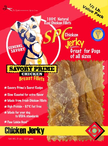 Savory Prime 8 Oz Chicken Jerky For Dogs 30008