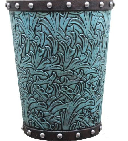 Colors of Rainbow TURQUOISE FLOWERS BASKET planter