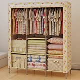 Generic Portable Folding Triple Clothes Reinforced Armoire Wardrobe Closet Home Furniture New