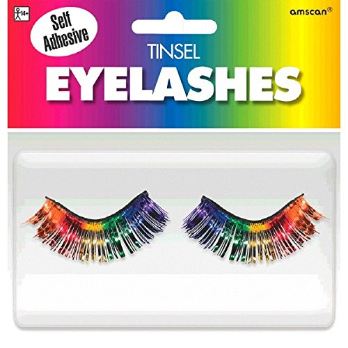 Amscan Party Ready Team Spirit Tinsel Eyelashes Accessory, R