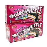 Raspberry Wagon Wheels - Chocolate Covered Marshmallow cookies with a Raspberry filling- 9 count (2-pack) / Wagon Wheels Framboise 9 biscuits à la guimauve enrobées en chocolate avec une garniture de framboise (paquette de 2)