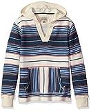 Lucky Brand Big Boys' Long Sleeve French Terry Stripe Hoodie, Stripe Birch, Medium (10/12)