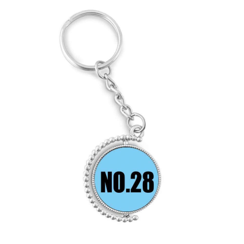 Amazon.com: Lucky número 28 nombre giratorio llavero llavero ...