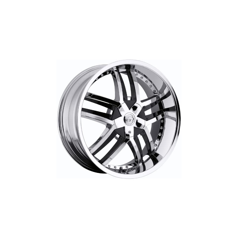 VCT Lombardi 20 Chrome Wheel / Rim 6x5 & 6x5.5 with a 30mm Offset and a 78.3 Hub Bore. Partnumber V64 2091261271397+30